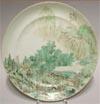 A Set Of Painted Landscape Plates