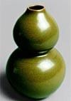 A Tea-Dust Glazed Gourd Shaped Bottle